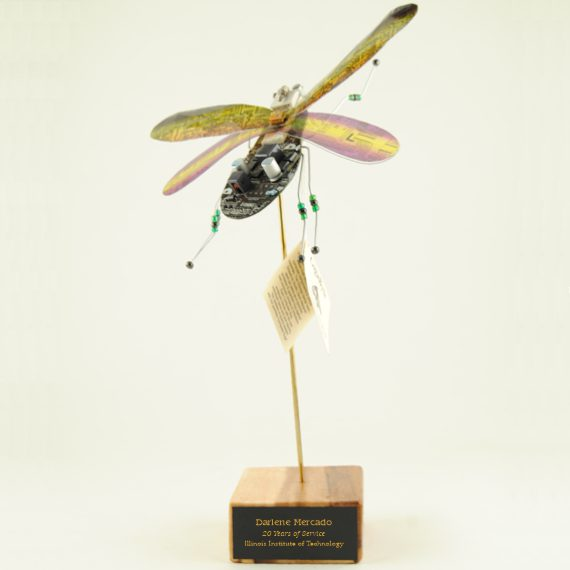 Computer Bug on Wood Base for Technology Teacher - Personalization Included