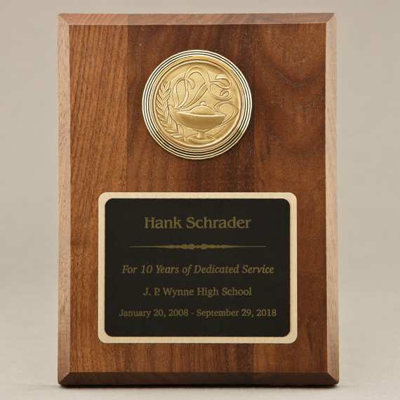 Personalized Support Staff Appreciation Plaque with Medallion Choice