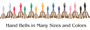 Teacher Hand Bells in Many Sizes and Colors