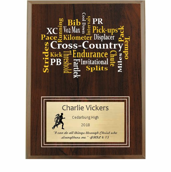 Amazing Competitor series Cross-Country cherry plaque