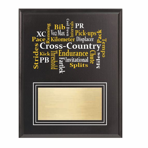 Amazing Competitor series Cross-Country black plaque