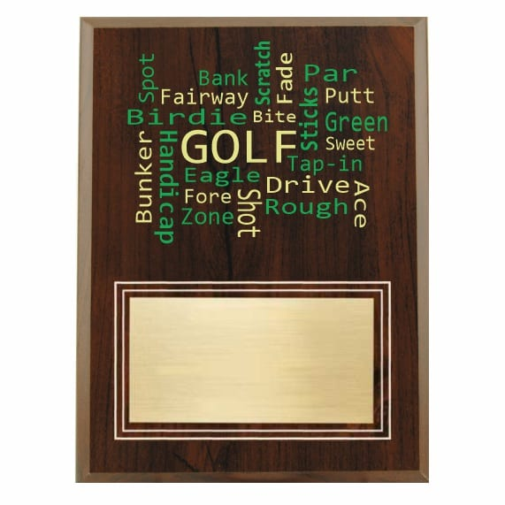 Amazing Competitor series golf cherry plaque