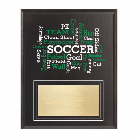 Amazing Competitor series soccer black plaque